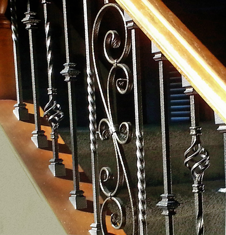 Tuscany wrought iron stair close up