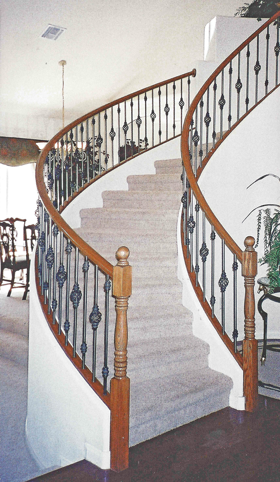 Traditional Wrought Iron Circular Staircase