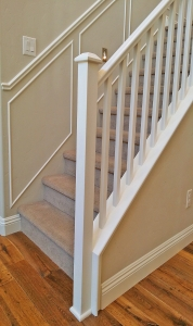 Las Vegas White Wood Handrails Staircase Railing Missioon Stair Style