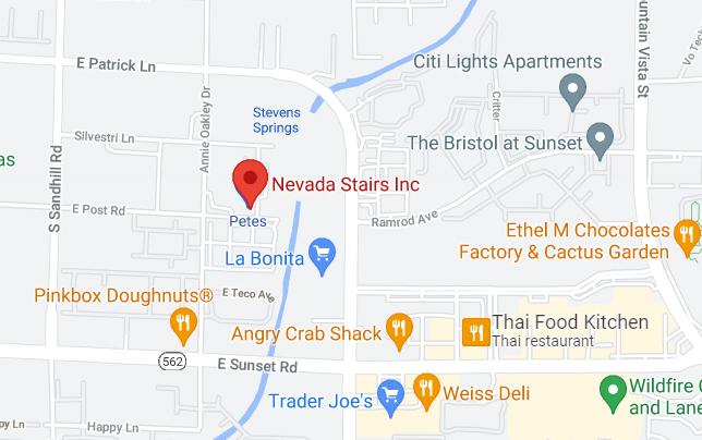 Nevada Stairs Map